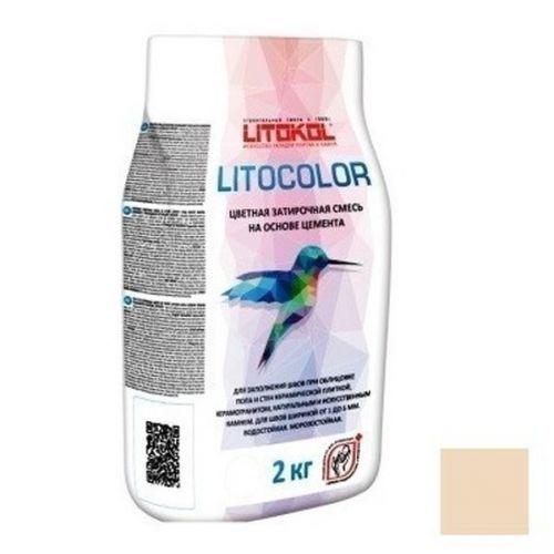Смесь затирочная цементная для швов Litokol Litocolor L.22 Крем-брюле 2 кг