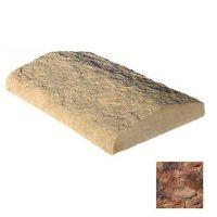 Плита накрывочная из искусственного камня White Hills 755-40 двухскатная коричнево-красная