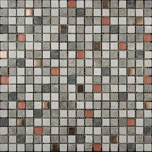 Мозаика из стекла, кварца и металла Natural Kobe KBE-03