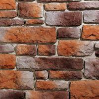 Искусственный камень KR Professional Грубый скол 04110 оранжево-коричневый