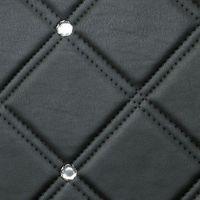 Стеновая панель Sibu Leather Line Cristal Rombo 85 Nero Silver 2612х1000 мм самоклеящаяся