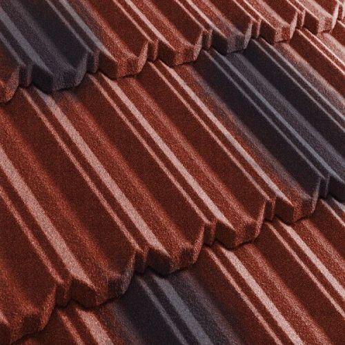 Черепица композитная Metrotile Metroclassic красно-черная