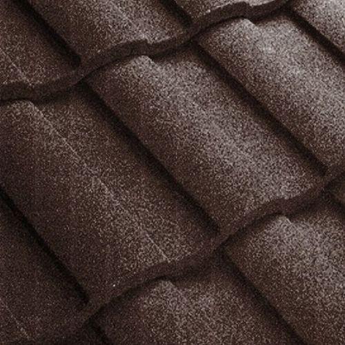 Черепица композитная Metrotile Metroroman коричневая