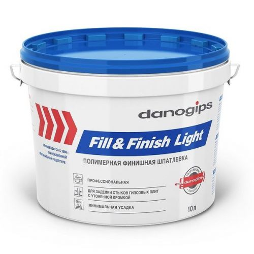 Шпатлевка Danogips Sheetrock Fill&Finish Light 10 л