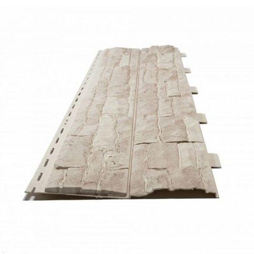 Панель фасадная Доломит Скалистый риф Жемчуг 3000х220 мм