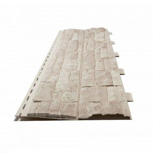 Панель фасадная Доломит Скалистый риф Люкс Жемчуг 2020х220 мм