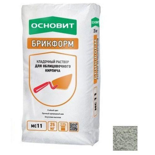 Раствор кладочный Основит Брикформ МС11 светло-серый 25 кг