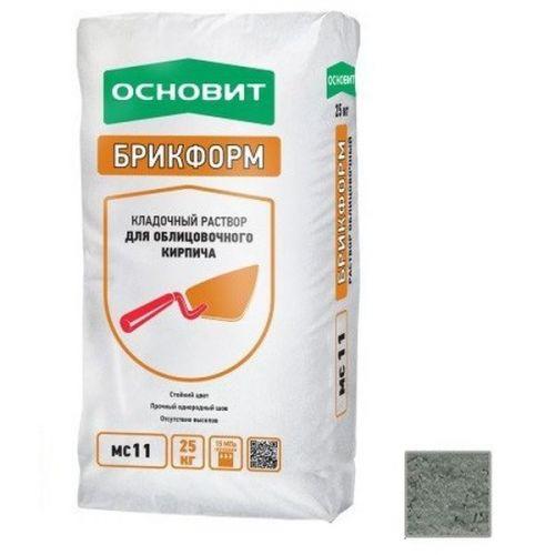 Раствор кладочный Основит Брикформ МС11 серый 25 кг
