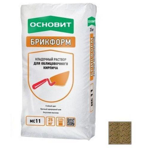 Раствор кладочный Основит Брикформ МС11 кремовый 25 кг