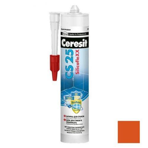 Затирка-герметик силиконовая Ceresit CS 25 Кирпичная 0,28 л