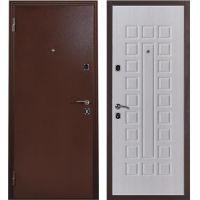 Дверь входная металлическая Меги 131 правая 970x2050 мм снаружи металл внутри МДФ 0586 беленый дуб