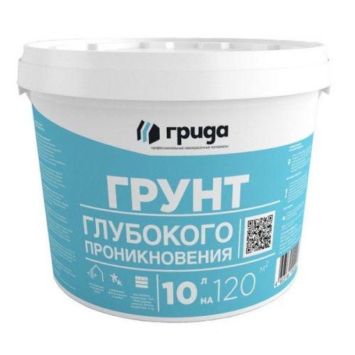 Грунтовка латексная глубокого проникновения Грида морозостойкая 10 кг