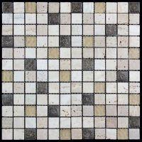 Мозаика из стекла, травертина и агломерата Natural Inka BDA-2333