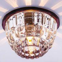 Светильник точечный встраиваемый Italmac Bohemia 220 1 74 G9 пурпур 40 Вт