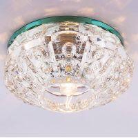 Светильник точечный встраиваемый Italmac Bohemia 220 4 70 G9 прозрачный 40 Вт