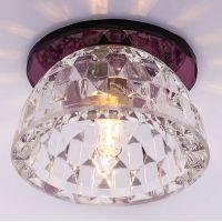 Светильник точечный встраиваемый Italmac Bohemia 220 5 74 G9 пурпур 40 Вт