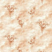 Стеновая панель ХДФ Акватон Букет цветов Терракота 2440х1220 мм