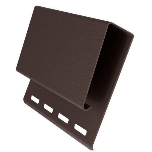 Наличник J-профиль широкий Grand Line коричневый 3100 мм