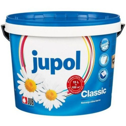 Краска воднодисперсионная для стен и потолков Jub Jupol Classic супербелая матовая 15 л