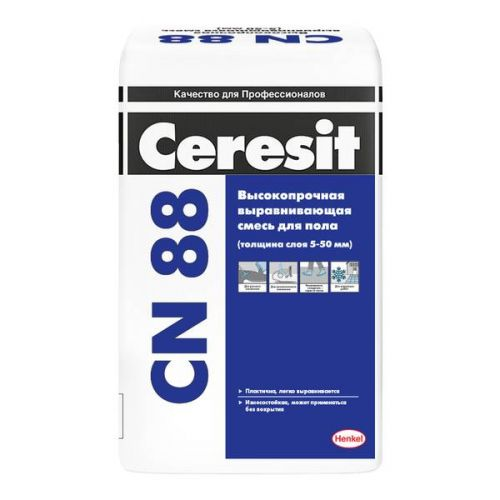 Смесь для пола выравнивающая Ceresit CN 88 высокопрочная 25 кг