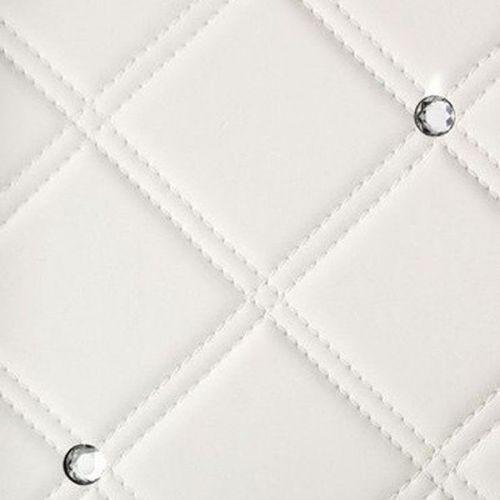 Стеновая панель Sibu Leather Line Cristal Rombo 85 Bianco Silver 2612х1000 мм самоклеящаяся
