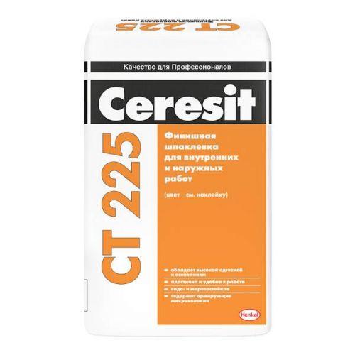 Шпатлевка финишная цементная Ceresit CT 225 серая 25 кг