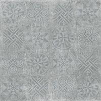 Керамогранит Idalgo Granite Stone Cemento Декор Серый структурный 599х599 мм