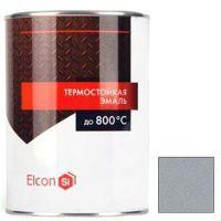 Эмаль Elcon термостойкая серебристо-серая 1 л