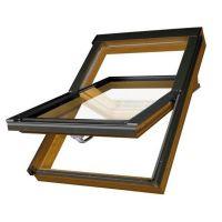 Окно мансардное Fakro РТР/GO U3 золотой дуб 940x1180 мм ручка снизу