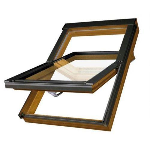 Окно мансардное Fakro РТР/GO U3 золотой дуб 780x1400 мм ручка снизу