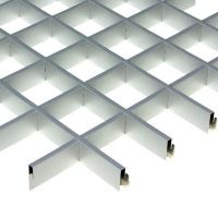 Потолок грильято Cesal Классический Стандарт металлик 200х200х40 мм