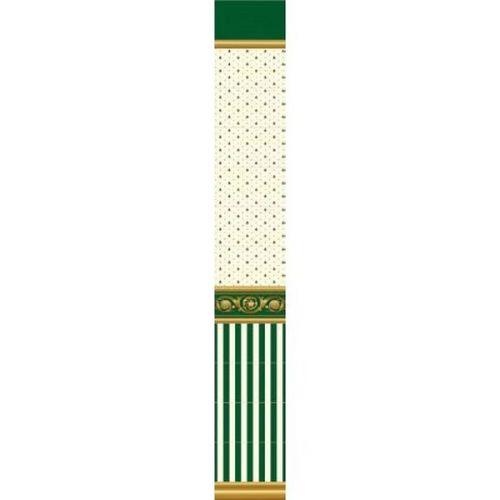 Стеновая панель ПВХ Venta Exclusive Ампир зеленый VE375E 711H 2700x375 мм