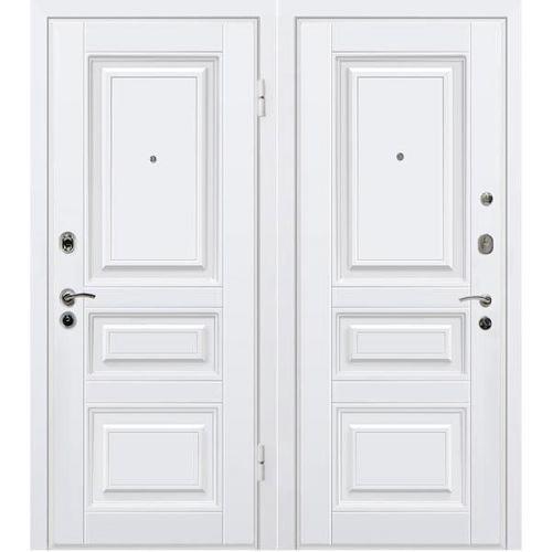 Дверь входная металлическая МеталЮр М11 860х2050 мм правая МДФ 12 мм белый