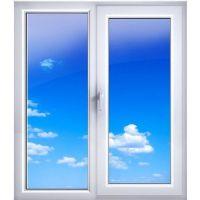 Окно ПВХ двухкамерное Экоокна 1160х1000 мм двухстворчатое створка поворотно-откидная правая