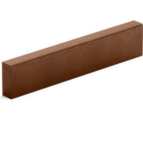 Бордюр тротуарный Steingot из серого цемента коричневый 1000х200х80 мм