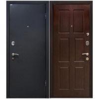 Дверь входная металлическая МеталЮр М21 960х2060 мм левая металл Черный бархат и МДФ 6 мм Венге