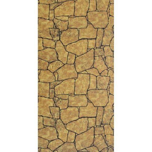 Стеновая панель МДФ Акватон Камень Камень Янтарный с тиснением 2440х1220 мм