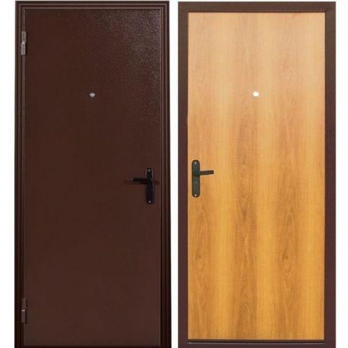 Дверь входная металлическая Меги 110 левая 970x2050 мм ХДФ миланский орех