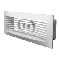 Решетка вентиляционная приточно-вытяжная Era 620РСФН белая наружная с фланцем