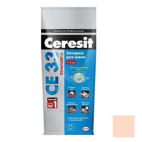 Затирка цементная для узких швов Ceresit СЕ33 Comfort Роса 2 кг