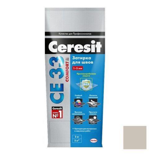 Затирка цементная для узких швов Ceresit СЕ33 Comfort серая 5 кг
