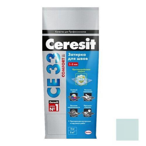 Затирка цементная для узких швов Ceresit СЕ33 Comfort Мята 2 кг