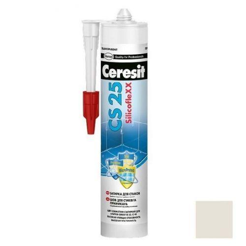 Затирка-герметик силиконовая Ceresit CS 25 Жасмин 0,28 л