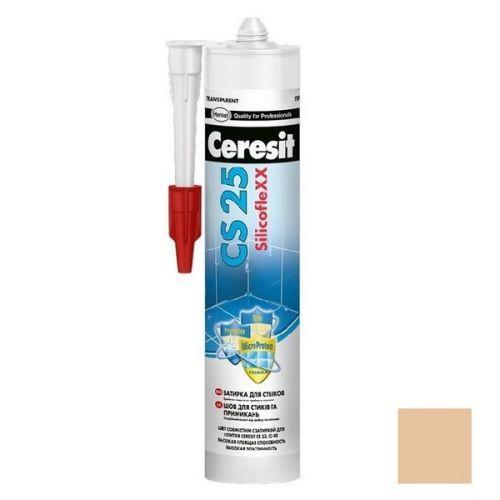 Затирка-герметик силиконовая Ceresit CS 25 Карамель 0,28 л