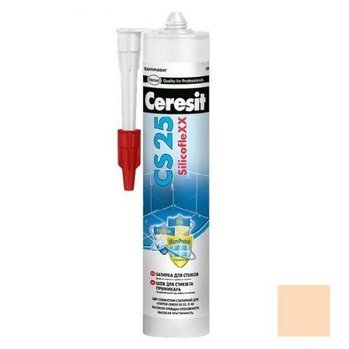Затирка-герметик силиконовая Ceresit CS 25 Персик 0,28 л