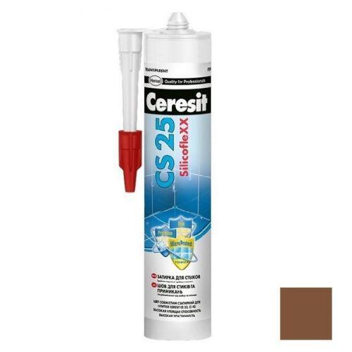Затирка-герметик силиконовая Ceresit CS 25 темно-коричневая 0,28 л