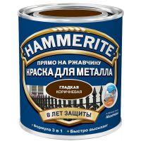 Краска по ржавчине Hammerite гладкая глянцевая коричневая 5 л