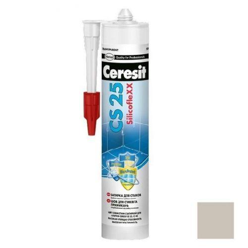 Затирка-герметик силиконовая Ceresit CS 25 серая 0,28 л