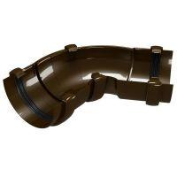 Угол желоба Devorex ПВХ Classic D120 мм универсальный 60-160 градусов коричневый