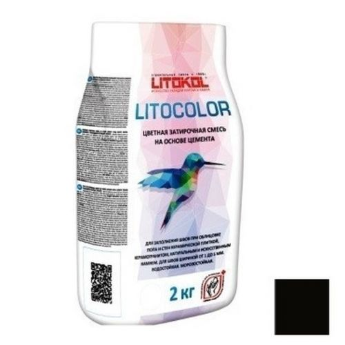 Смесь затирочная цементная для швов Litokol Litocolor L.14 Антрацит 2 кг